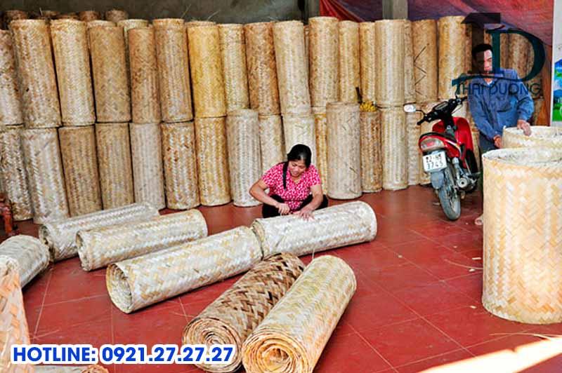 Cách đan cót tre